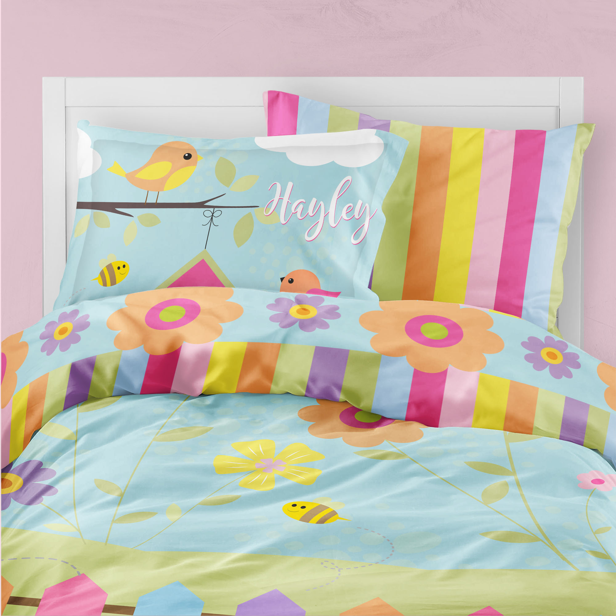 PK00021-TweetDreams Tweet Dreams Little Birdies Theme Bedding Kids Bedroom Set by Pickleberry Kids