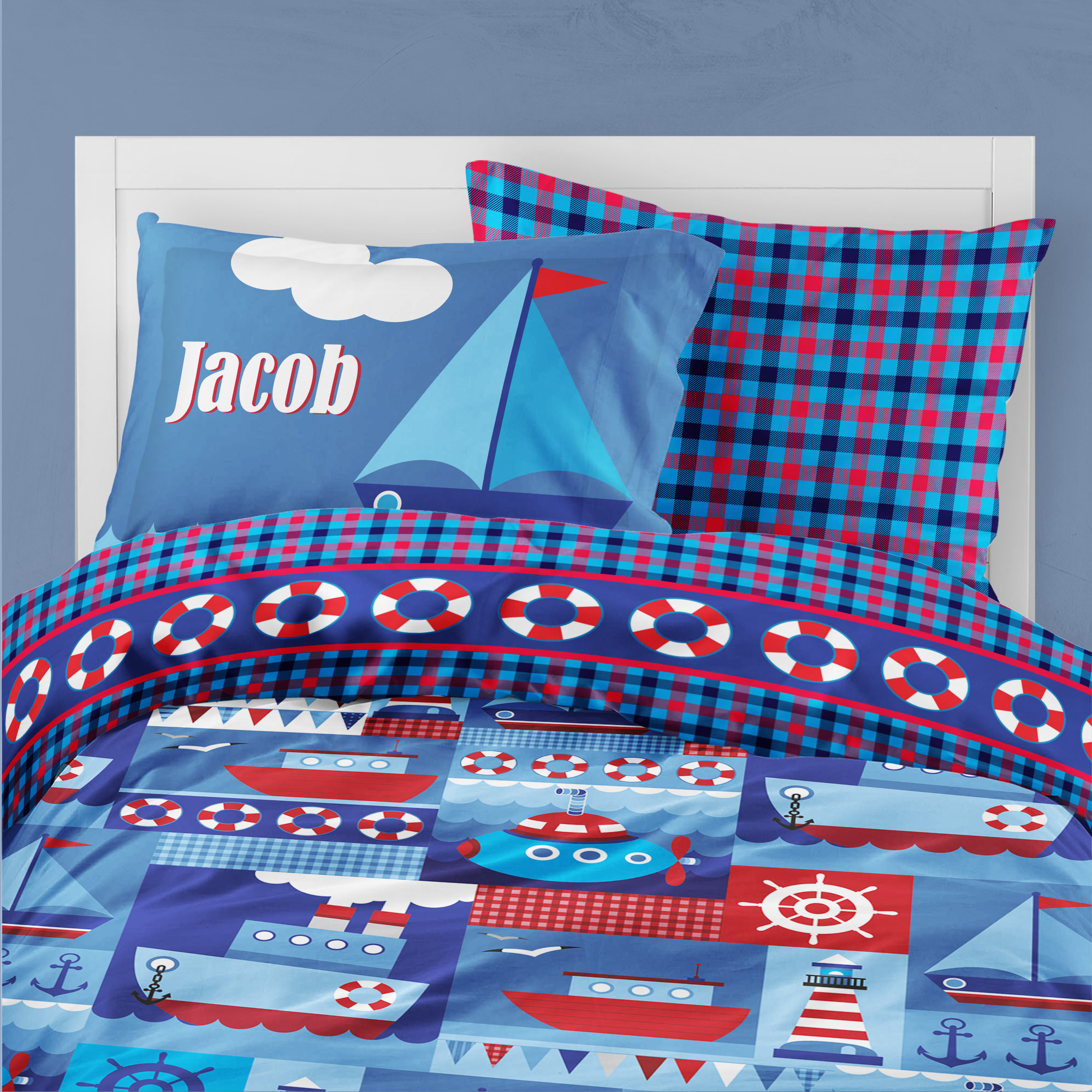 PKBED-00008-OceanAdventures Ocean Adventures Nautical Theme Bedding Kids Bedroom Set by Pickleberry Kids