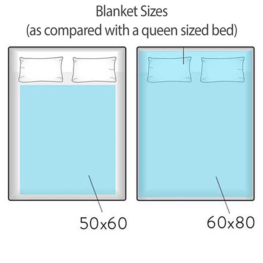 Blanket Sizes Graphic - Kids Colorful Throw Blankets by Pickleberry Kids