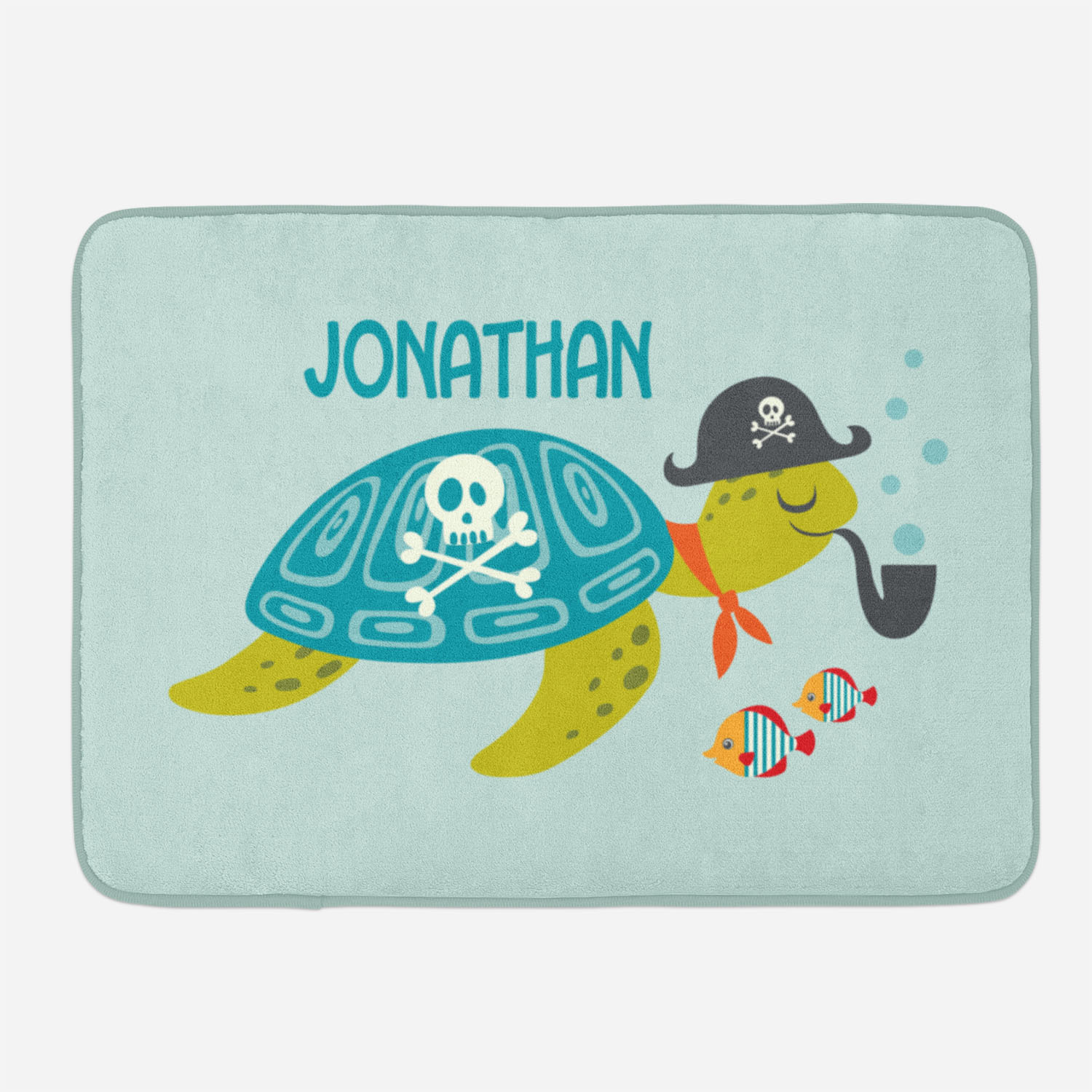 PKBMAT-00006-PirateAdventure-BATHMAT2-SMALL Ahoy Matey Pirate Adventure Bath Shower Mat by Pickleberry Kids