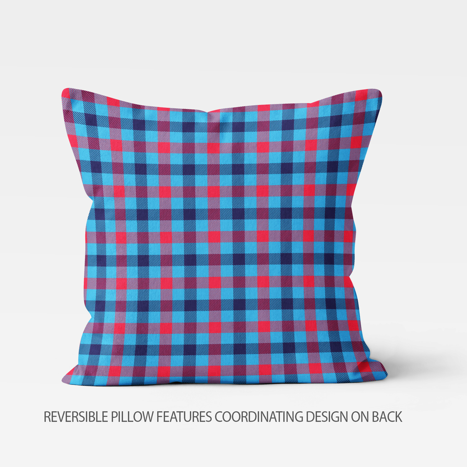 PKTP-00008-OceanAdventures-THROWPILLOW Ocean Adventures Nautical Theme Red/Blue Plaid Boys Kids Accent Throw Pillow Room Decor Accessories by Pickleberry Kids