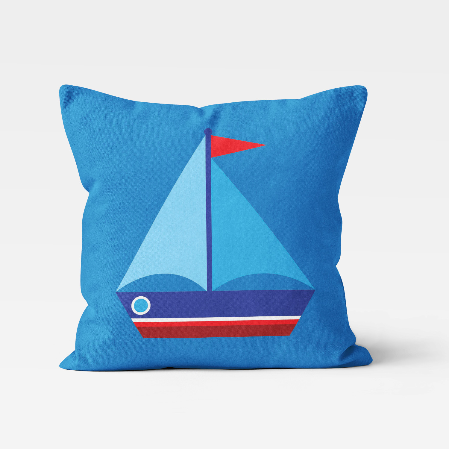 PKTP-00008-OceanAdventures-THROWPILLOW Ocean Adventures Nautical Theme Sailboat Boys Kids Accent Throw Pillow Room Decor Accessories by Pickleberry Kids