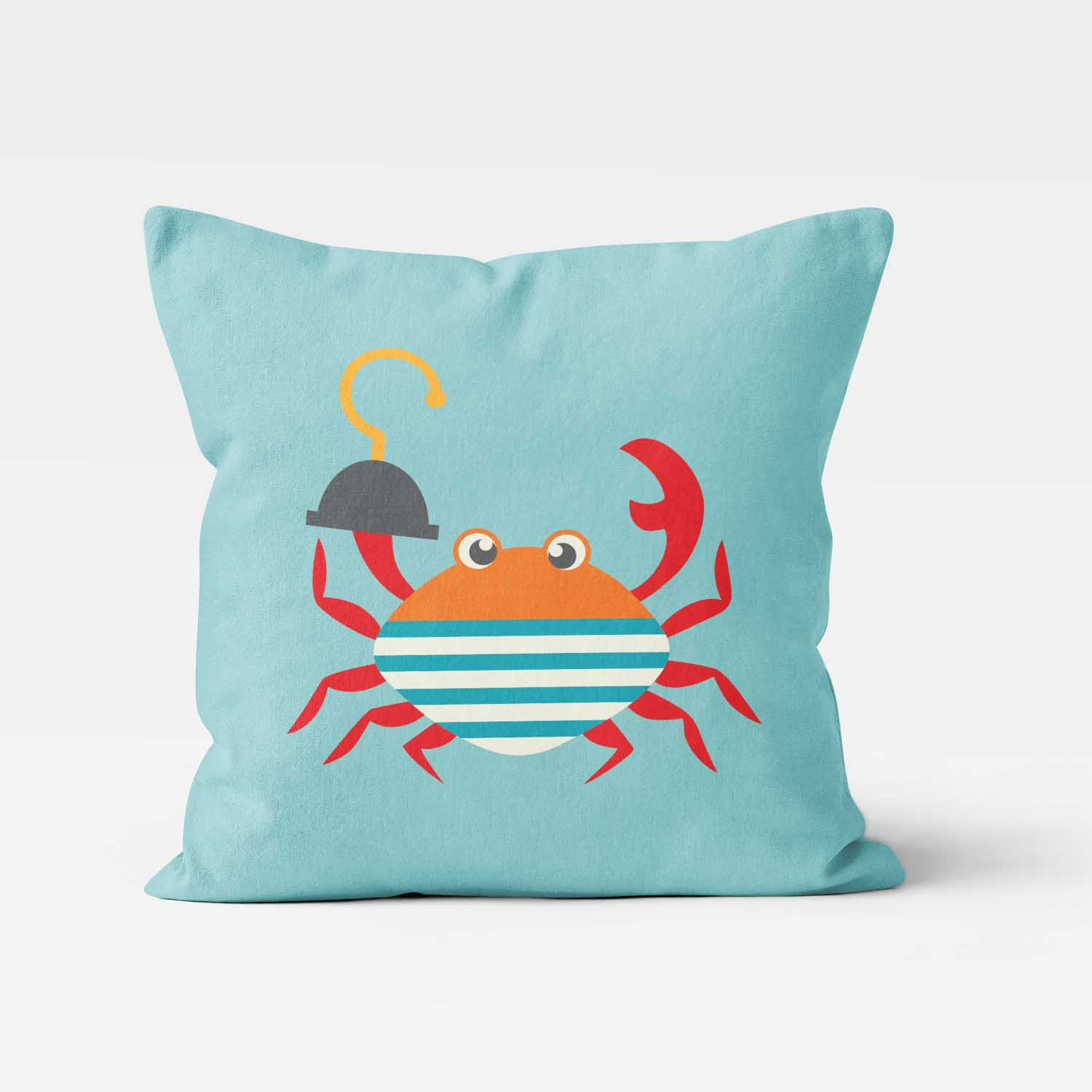 PKTP00006-AhoyMateyPirateAdventure-PILLOW3 Ahoy Matey! Pirate Adventure Crab Boys Kids Accent Throw Pillow Room Decor Accessories by Pickleberry Kids